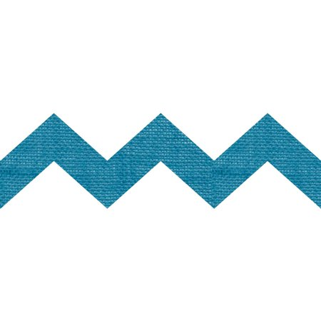 Burlap Laminated Shapes, Blue Chevron, 3 Packs