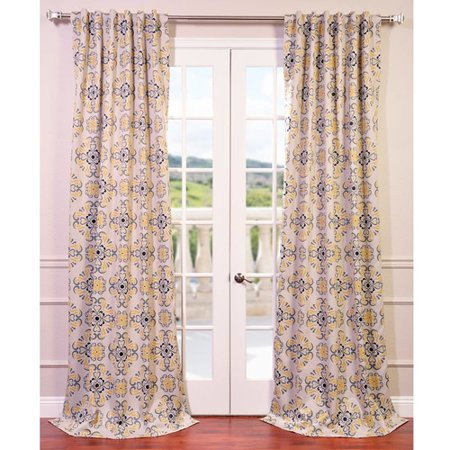 Half Price Drapes Soliel Nature/Floral Blackout Thermal Rod Pocket Single Curtain Panel