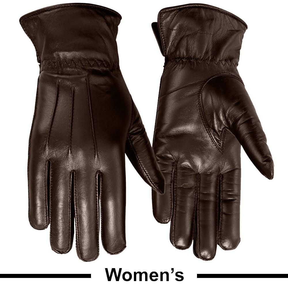 1a3228b4071a9 MRX - Ladies Warm Winter Gloves Dress Gloves Thermal Lining Geniune Leather  (WOMEN BLACK, Large) - Walmart.com