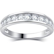 3/4 Carat T.W. Round Diamond 10kt White Gold Wedding Band, I-J/I2-I3
