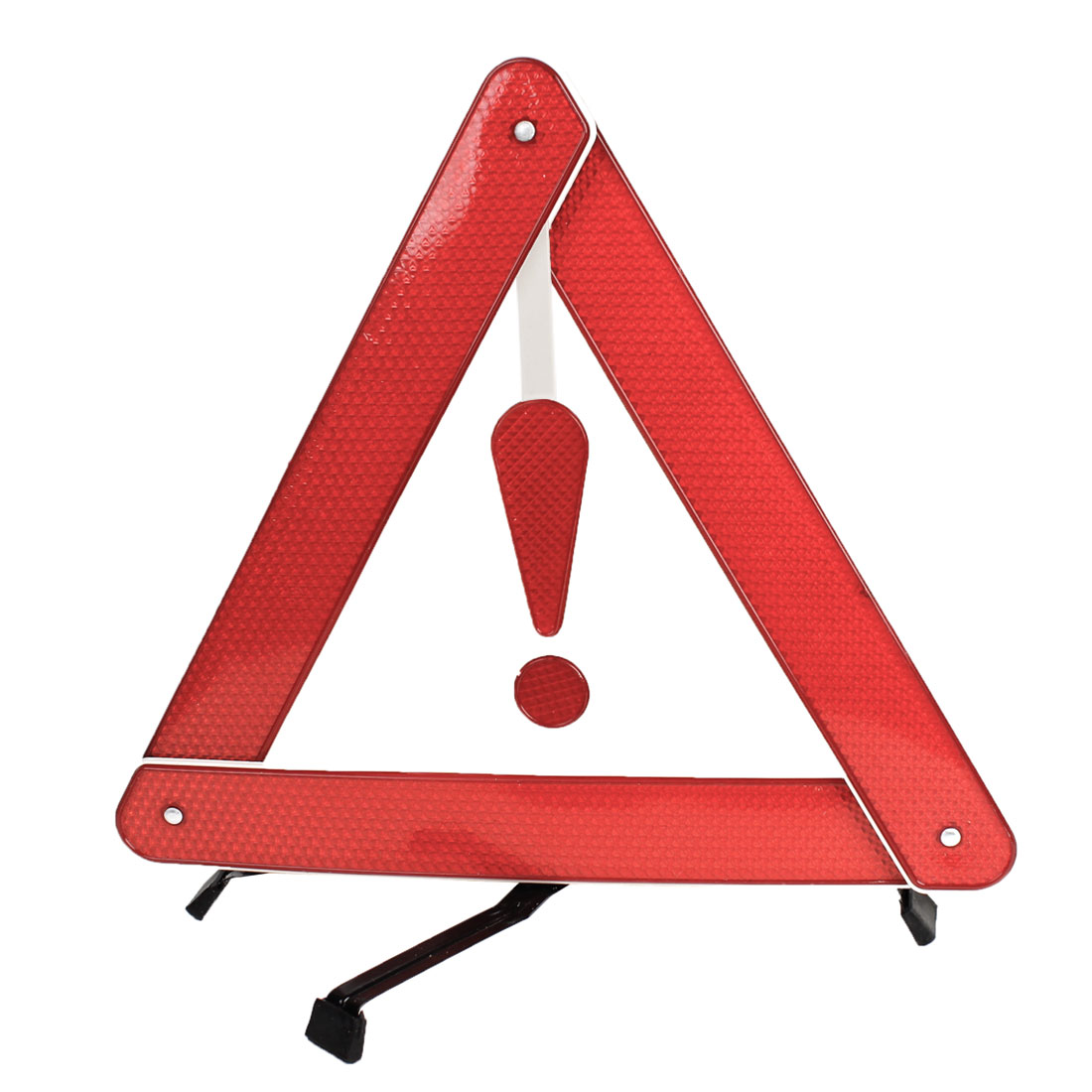 Road Block Metal Plastic Safety Warning Reflection Triangle Black Red