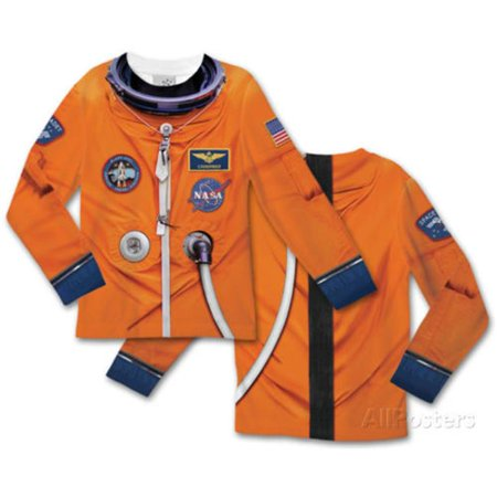 Long Sleeve Tee Faux Real Toddler Astronaut - 3 Tall - image 1 de 1