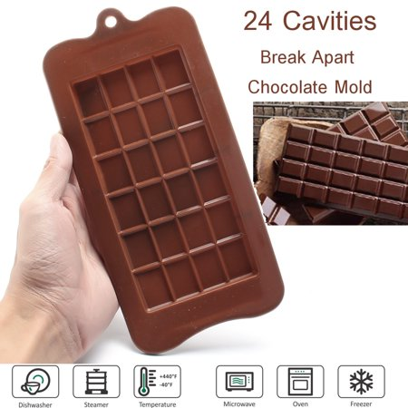 24 Grid Chocolate Mold Candy Mould Bar Block Ice Tray Silicone Cake Bake Sugar Home Use Baking Tools - Ice Blocks For Sale