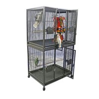"""A and E Cage Co. 40""""X30"""" Double Stack Breeder Cage - Black"""