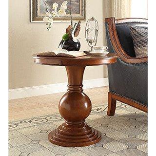 Chin Shu Rosemont Burnt Chestnut Wood/MDF Pedestal Table
