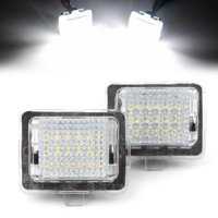 GZYF ABS LED License Number Plate Light For Mercedes Benz W204 W212 W221
