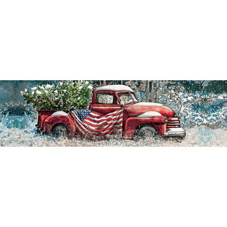 LANG FLAG TRUCK PUZZLE - 750 PANORAMIC 750 Piece Panoramic Puzzle