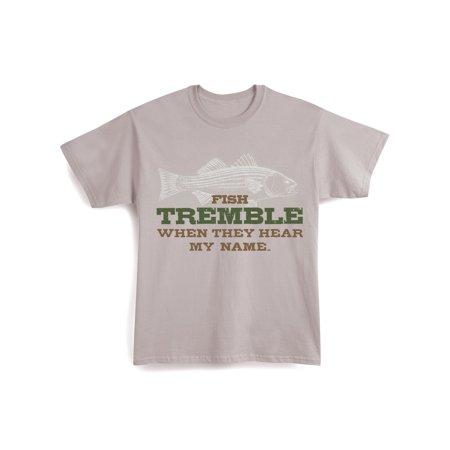 Hear Banjo Music T-shirt (Unisex Adult Fish Tremble When They Hear My Name Shirt )