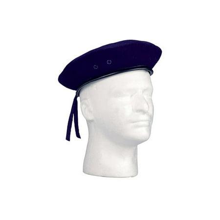 Navy Beret - Navy Blue Ultra Force G.I. Style Wool Beret
