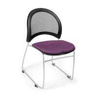 Ofminc Office Furniture 4-Pack Starmoon Series 250 Lbs Weight Capacity Durable Base Armless Fabric Plum Stacking Chair by ofminc