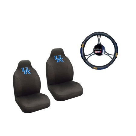 Kentucky WildCats 2 Seat Covers And Wheelcover With