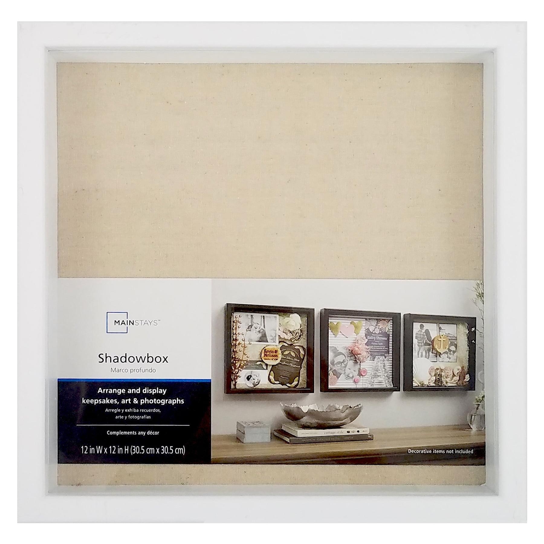 Mainstays 12x12 Shadow Box Frame, White