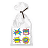 Girlss Super Hero Theme Party Supplies - 12 Party Favor Bags with Twist Ties