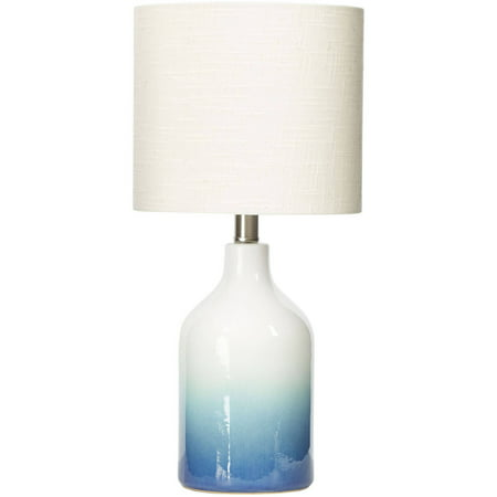Ceramic Wave Table Lamp - Better Homes & Gardens Blue Ombre Ceramic Table Lamp