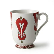 Easy Exotic by Padma Lakshmi 14-Ounce Ikat Decal Mugs, Set of 4