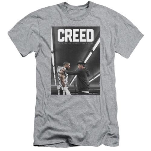 Creed Poster Mens Slim Fit Shirt Athletic Heather 2X