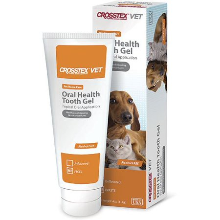 Crosstex VET 'Oral Health Tooth Gel' Chlorhexidene Toothpaste Recommended By Veterinarian Dentists ()