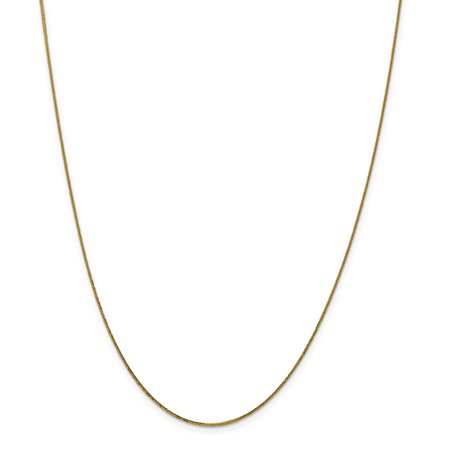 Roy Rose Jewelry Leslies 14K Yellow Gold Diamond-cut Quadra Wheat Necklace ~ Length 16'' inches