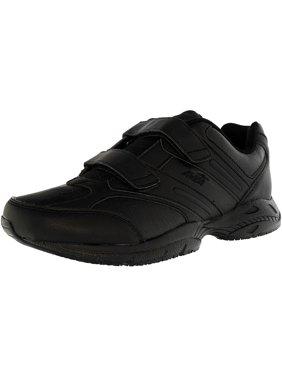 Avia Women's Union Slip Resistant Black/Chrome Silver/Lemon Yellow Ankle-High Leather Cross Trainer Shoe - 8.5M