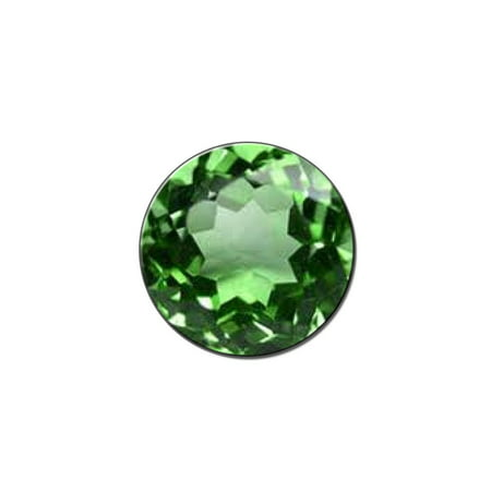 Emerald May Birthstone - Faux Resin Lapel Hat Pin Tie Tack Small Round