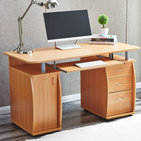 Computer Desk Pc Laptop Table W Drawer Home Office Study Work Station Furniture