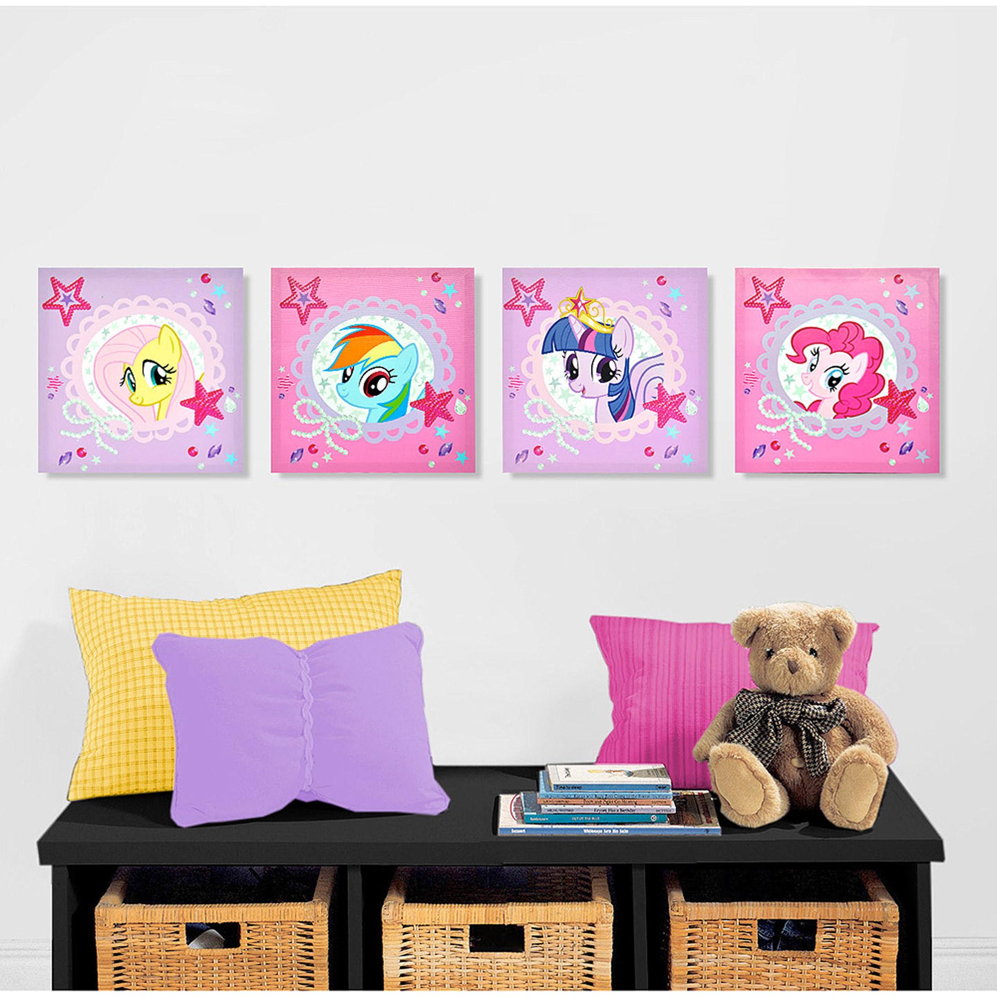 My Little Pony 4-Piece Canvas Wall Art