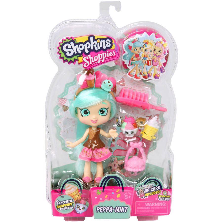 Moose Toys Shopkins Shoppies S2 Doll, Peppa-Mint