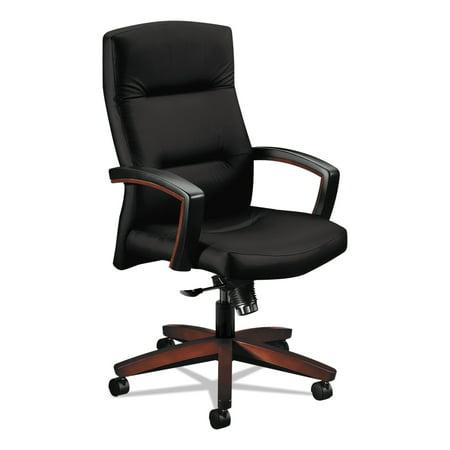 - HON 5000 Series Park Avenue Collection Executive High-Back Knee Tilt Chair, Black