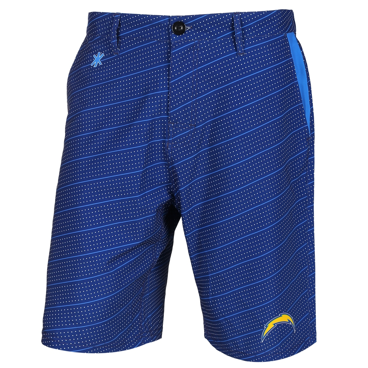 "San Diego Chargers NFL ""Dots"" Men's Casual Polyester Walking Shorts"