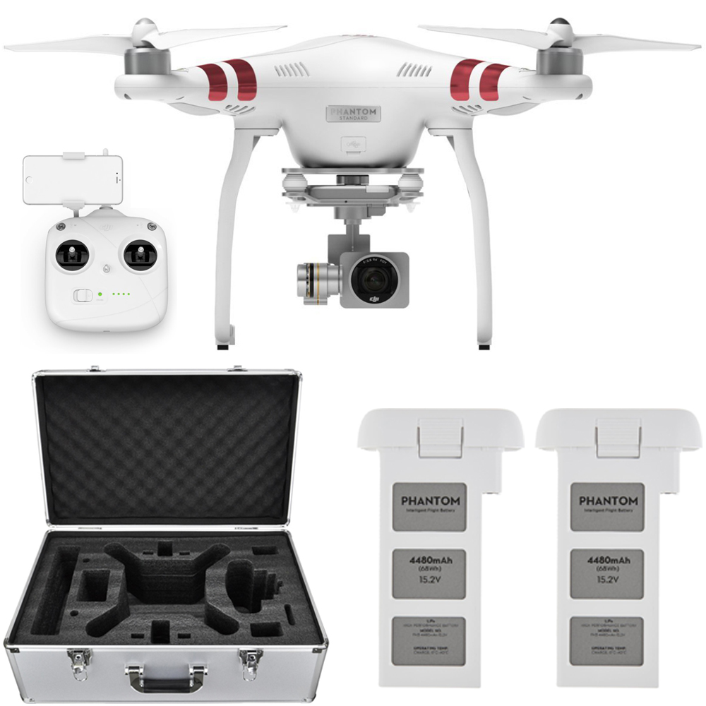 DJI Phantom 3 Standard Quadcopter Drone w/ 2.7K Camera + ...