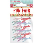 Helz Fun Fair Mini Wooden Pegs-Assorted Color Clothespins