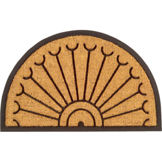 Imports Decor 714RBCM Half Round Peacock Door Welcome Mat