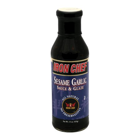 Chef Sauce - Iron Chef Sauce And Glaze - Sesame Garlic - Pack of 6 - 15 Oz.