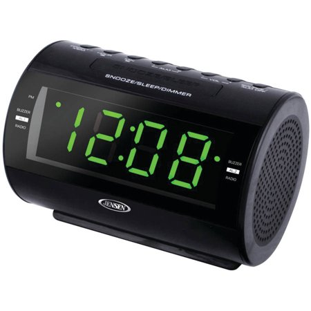 jensen jcr 210 am fm dual alarm clock radio. Black Bedroom Furniture Sets. Home Design Ideas