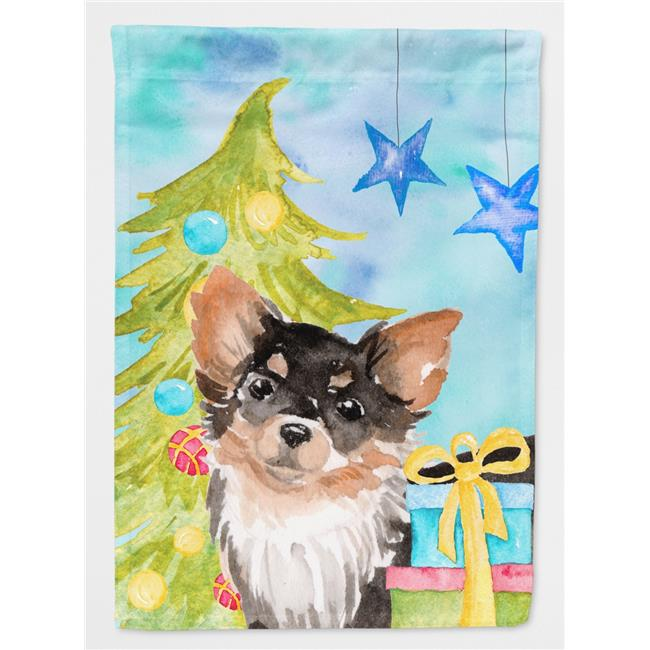 Carolines Treasures BB9424CHF Long Haired Chihuahua Christmas Flag Canvas House - image 1 of 1