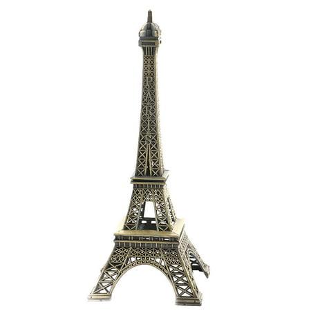 Bookshelf Office Metal Statue Paris Eiffel Tower Model Souvenir Bronze Tone
