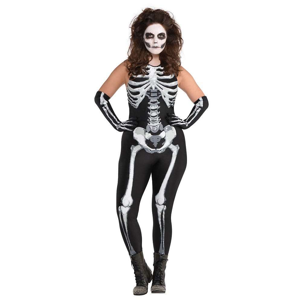 Buy Women S Skeleton Bodysuit Costume Up To 77 Off