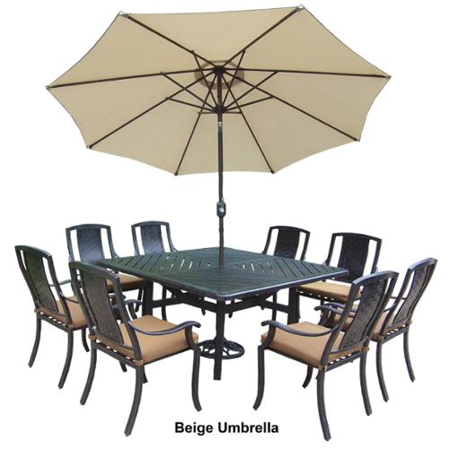 Oakland Living Corporation Ravenna Sunbrella Aluminum 11-piece Dining Set