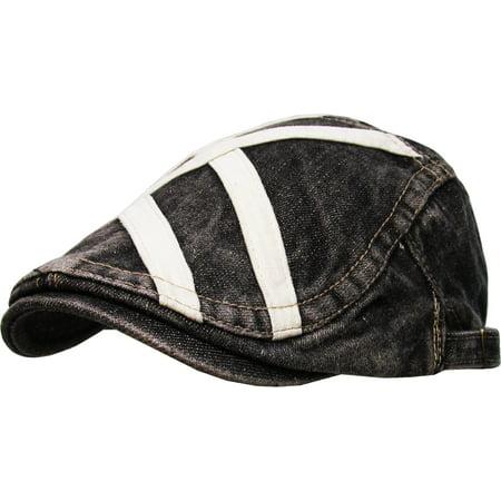 Denim Gatsby Cap Mens Denim Hat Golf Driving Summer Cabbie Newsboy - Gatsby Clothing For Men