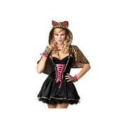 California Costume Collections Frisky Kitty Costume 01195CAL Black/Leopard