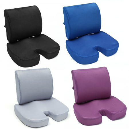 Memory Foam Luxury Seat Cushion Tailbone Lumbar Back Support Seat Orthopedic Design To Relieve Back Sciatica Coccyx And Tailbone Pain For Office
