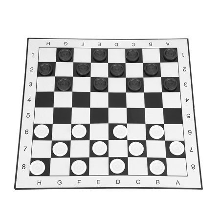 LYUMO Portable Plastic International Checkers Folding Board Chess Game for Party Family Activities , Checkers, Portable Checkers Slumber Party Activity Game