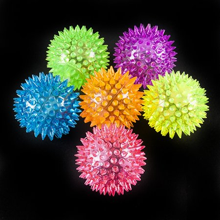 Light Up Spikey Ball with Sound - 12 per pack](Ball That Lights Up)