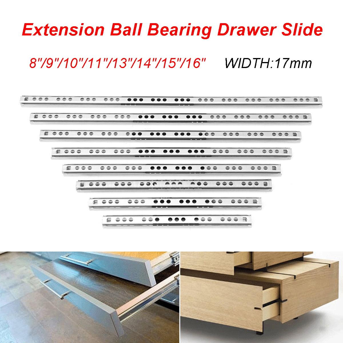 "15 Pairs 14/"" Heavy Duty-100 lb Side Mount Ball Bearing Drawer Slides Full Ext"