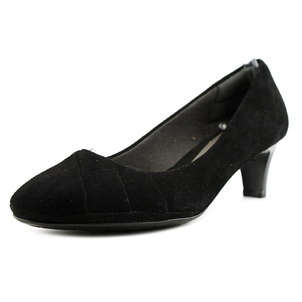 Click here to buy Eurosoft by Sofft Tellis Women Round Toe Suede Black Heels by Eurosoft by Sofft.