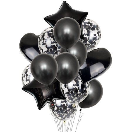 Rescue Bots Birthday Party Supplies (Fancyleo 14 Pcs\/Set Confetti Wedding Birthday Balloons Heart Latex Foil Kids Boy Girl Baby)