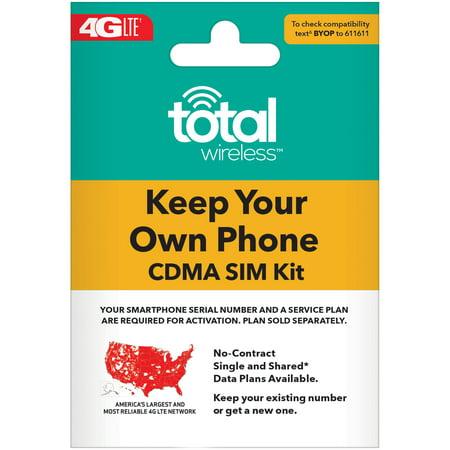 Total Wireless Bring Your Own Phone SIM Kit - Verizon CDMA (Best Overseas Sim Card)