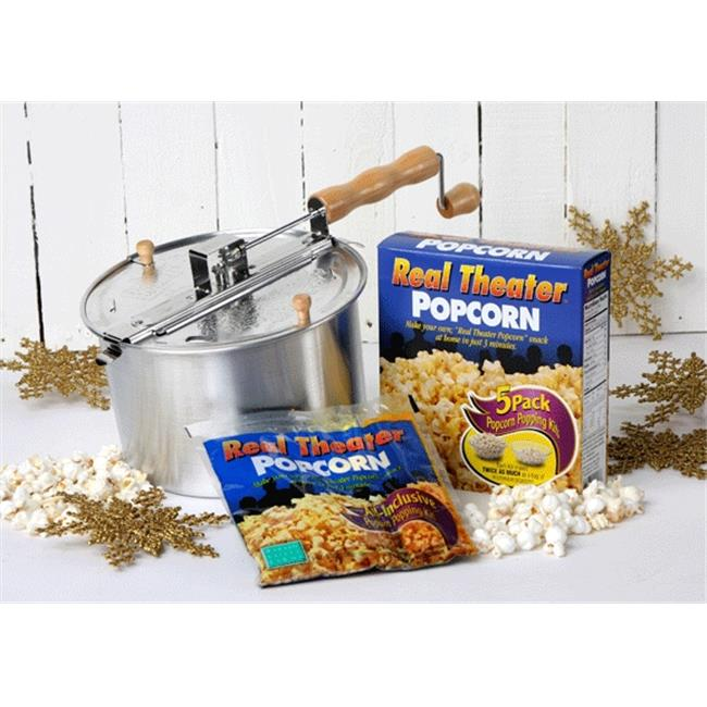 Wabash Valley Farms 24101 Whirley-Pop & Movie Theater Style Popcorn Gift Set