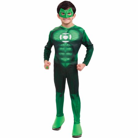 Diy Green Halloween Costumes (Hal Jordan Deluxe Muscle Child Halloween)