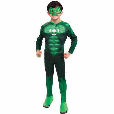 Hal Jordan Deluxe Muscle Child Halloween Costume - Green Lantern Childrens Costume